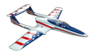 Boomerang RC Jets ELAN Stars & Stripes