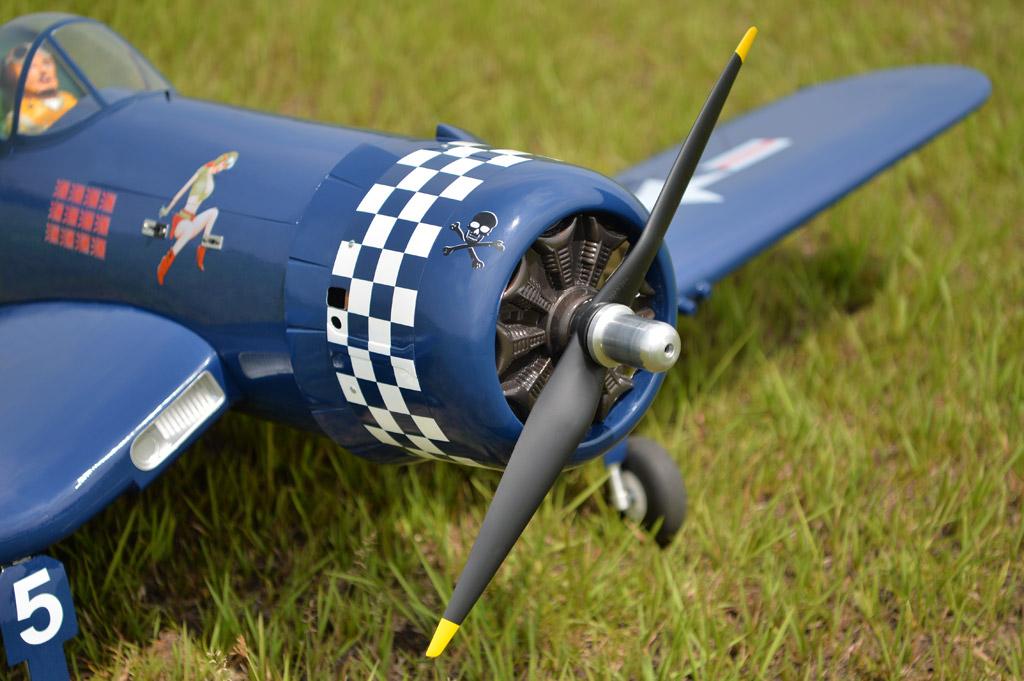 F4U Corsair 55CC Black Horse Model