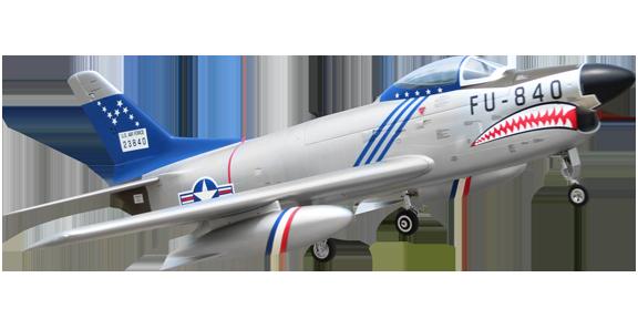Pilot RC Sabre F-86D